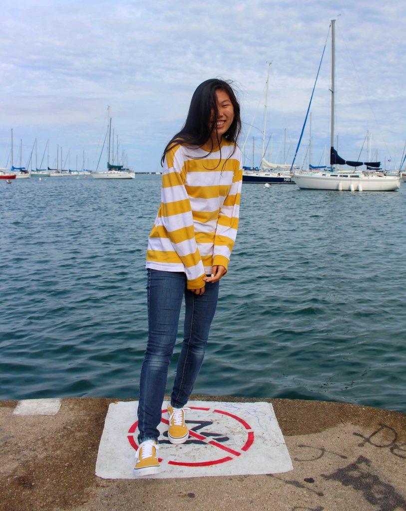 Tina at Lake Michigan